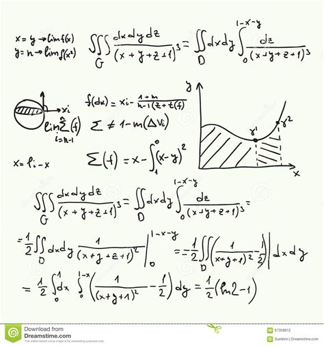 pattern vectors from algebraic graph theory mathematical formulas and graphs stock image