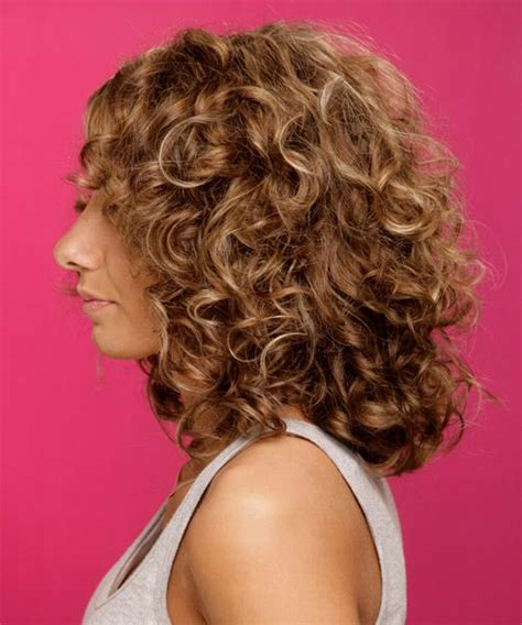 curly hairstyles long face shapes medium curly formal hairstyle medium brunette chestnut