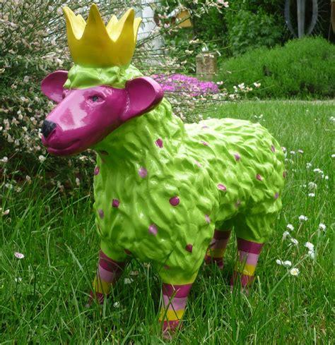 Garten Deko Lamm by Garten Figur Lustiges Buntes Schaf Lamm M Krone Deko Tier