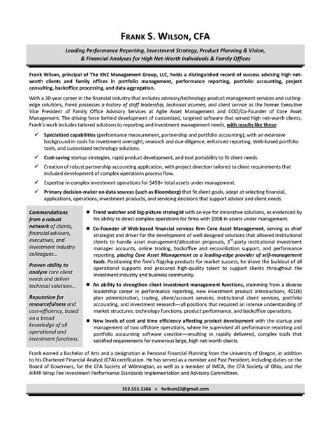bio exles for executives bio exles for resume resume ideas