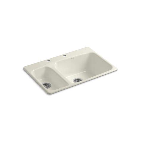 shop kohler lakefield basin drop in enameled cast
