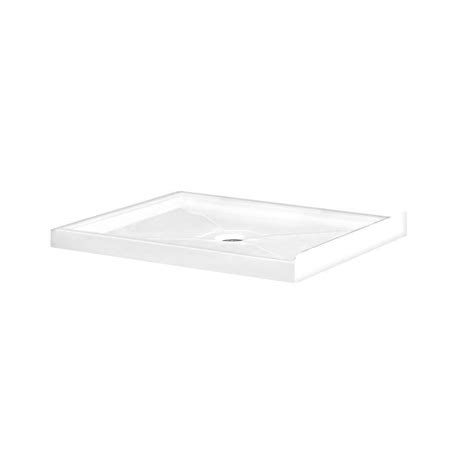 Ove Shower Base by Shop Ove Decors 40 In L X 32 In W White Acrylic Square Corner Shower Base At Lowes