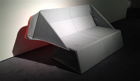 Origami Sofa - origami transforms from a into a mattress in