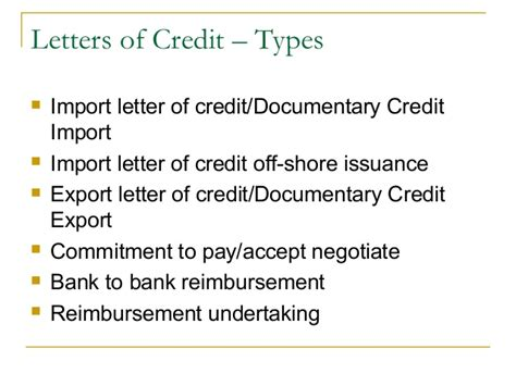 Finance Letter Of Credit Definition Trade Finance Identification Of Needs And Product Offerings