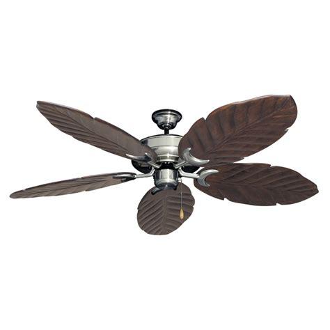 wood and metal ceiling fan brushed steel raindance 125 series ceiling fan real wood