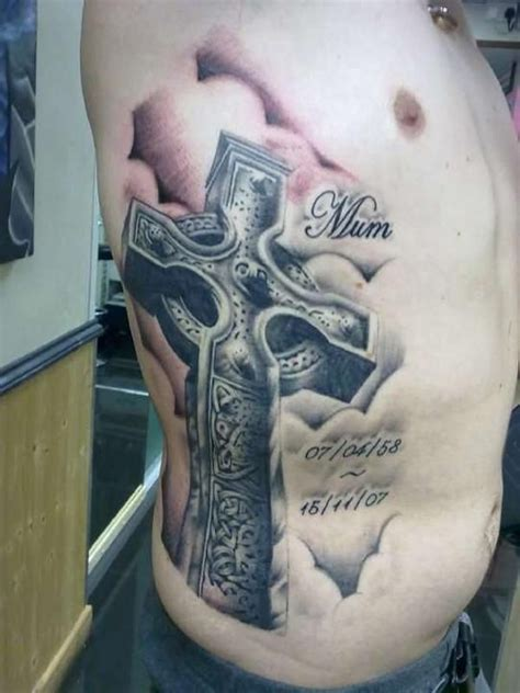 3d x tattoo large 3d cross with cloudy background celtic cross