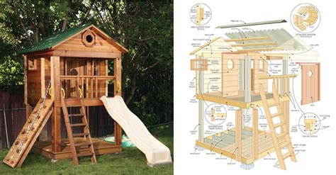 backyard playhouse plan pdf woodwork kids outdoor playhouse plans download diy