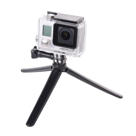 Gopro 3 Murah 3 way grip arm tripod with extension arm grip tripod bundle for gopro 4 3 2 black