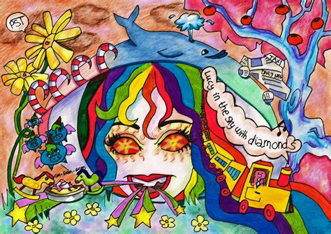 the beatles lucy in the sky with diamonds lucy in sky with diamonds by weirdplushie on deviantart