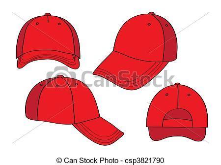 Line Cap Topi Pet vector leeg rood beslag stock illustratie royalty
