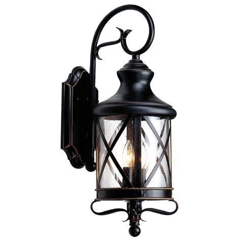 Allen Roth 29 1 4 In Bronze Outdoor Wall Mounted Light Allen Roth Landscape Lighting