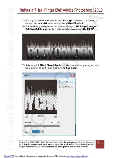 tutorial adobe photoshop mudah tutorial singkat dan mudah adobe photoshop boby candra