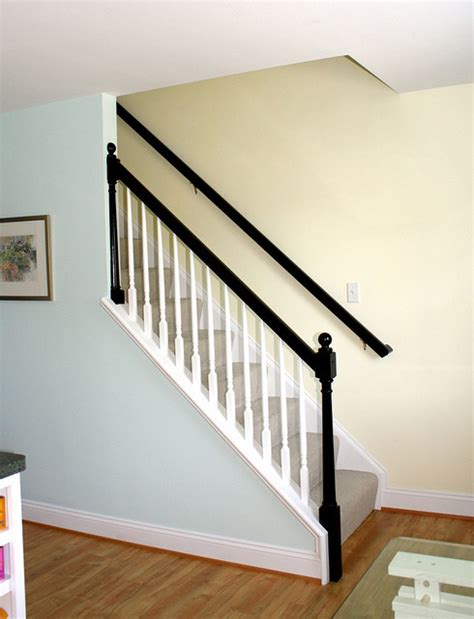 the banister black banister traditional staircase richmond by bright bold and beautiful