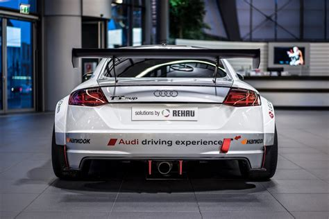 audi tt racing audi tt cup race car looks while on display
