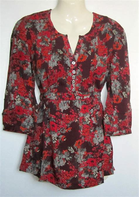 Monsoon Printed Tunics by New Monsoon Floral Print Tunic Top Size 8 18
