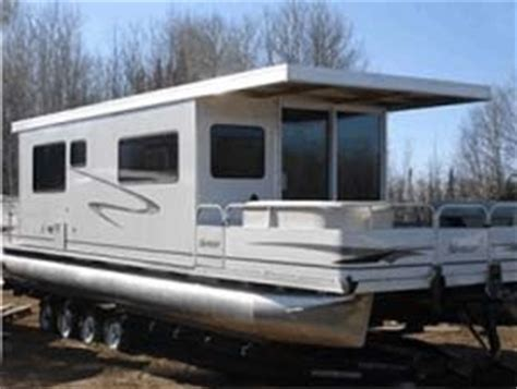 house boat trailers 10 x 35 day boat pontoon houseboat w trailer motor