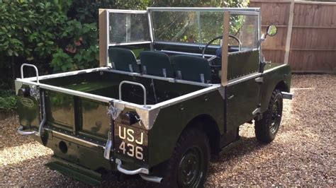 80s land rover land rover series 1 80 quot 1951 2 0 youtube