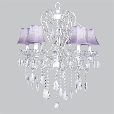 Beaded Chandelier Shades Five Arm Whimsical Beaded Chandelier In White With