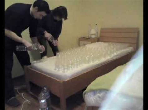 water bed prank roommate student prank water bed youtube