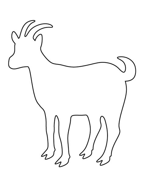cute goat pattern goat pattern use the printable outline for crafts