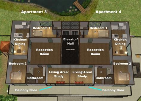 Japanese Floor Plans by Mod The Sims The Quarter House Apartments