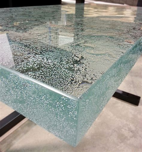 Just Countertops - this 2 quot ultra clear glass countertop is cast with our new