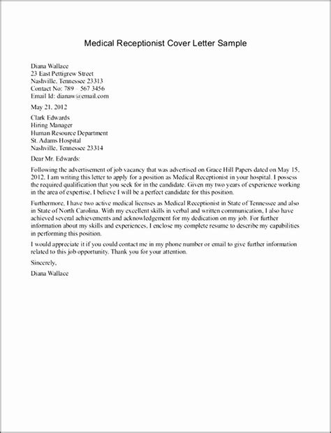 application letter receptionist exle 13 best format on how to write an application letter for a
