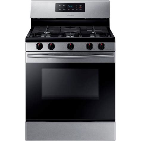 samsung 30 in 5 8 cu ft single oven gas range in