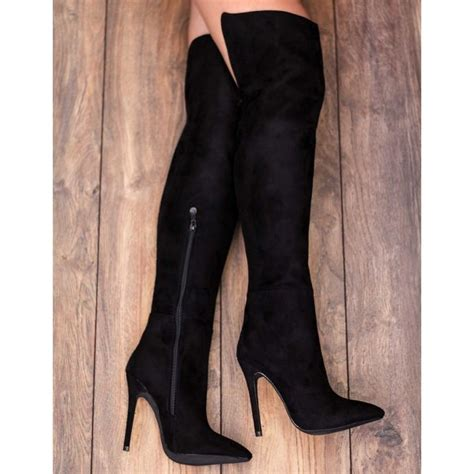 spylovebuy fremont black knee boots at