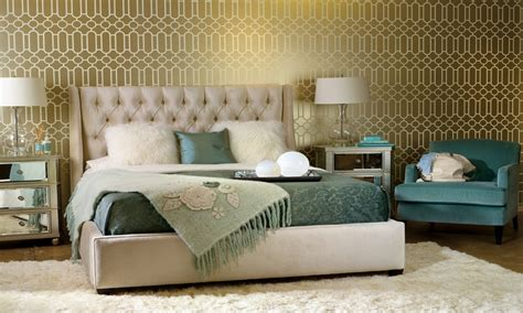 Teal And Gold Bedroom by Wallpaper Decorating Ideas Bedroom Gold And Teal Bedroom