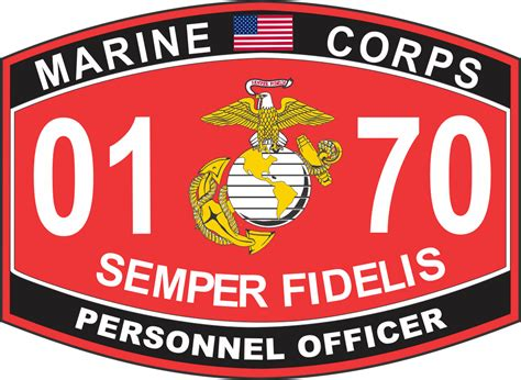 Marine Corps Officer Mos by Personnel Officer Marine Corps Mos 0170 Usmc Decal
