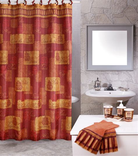 shower curtain and towel sets contemporary 19 piece bathroom accessories shower modern