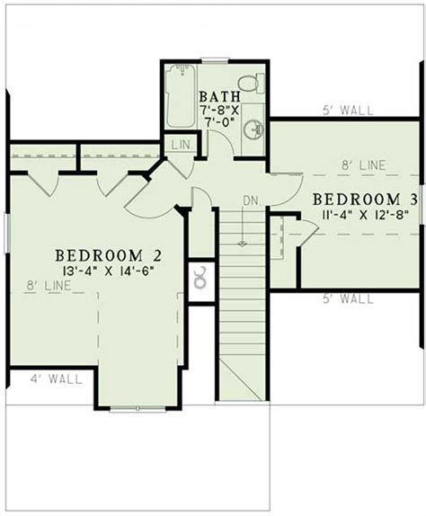second story floor plans craftsman home plan 3 bedrms 2 baths 1379 sq ft
