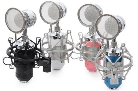 Penyaring Suara Rekaman Pop Filter Mikrofon Dual Layer Windscreen 1 mikrofon kondenser dengan shock proof mount bm 8000 black jakartanotebook