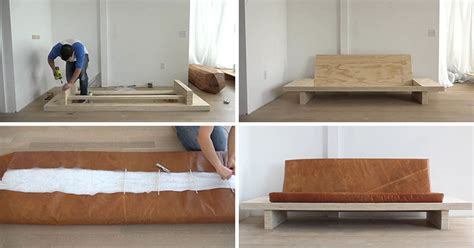 how to sew a leather couch learn how to create your own diy modern wood couch with