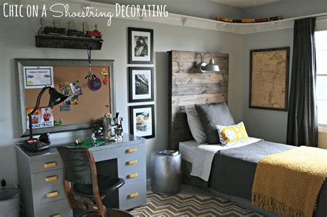 Boys Room Decorations by Chic On A Shoestring Decorating Bigger Boy Room Reveal