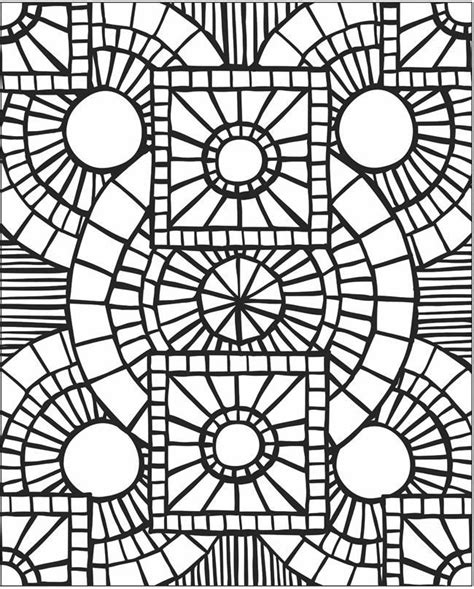 mosaic templates for mosaic patterns coloring pages coloring home