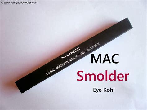 Mac Eye Kohl Eyeliner Review by Mac Smolder Eye Kohl Review Vanitynoapologies Indian