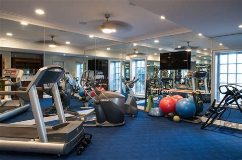 home gym ideas impressive home design white off wall decorating exercise room with warm l and