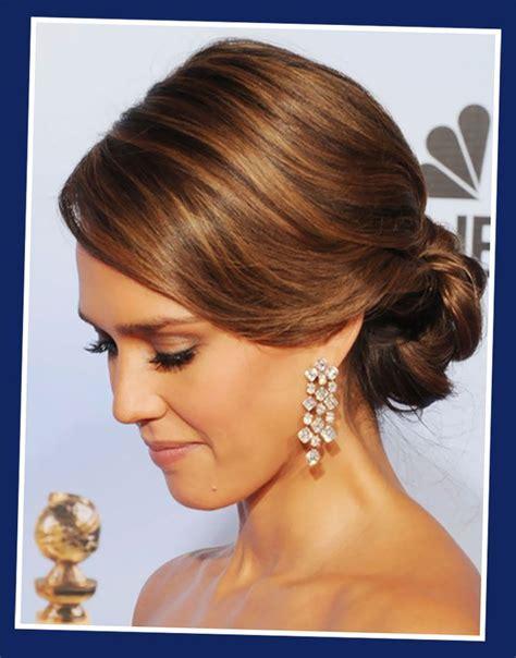 bridesmaid hairstyles jessica alba jessica alba loose bun updos for long hairstyles jpg 700