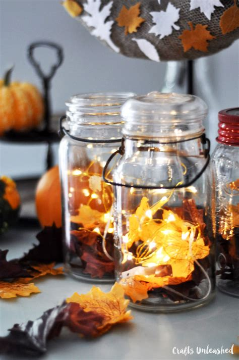 decorating with jars for fall diy fall decor jar lanterns crafts unleashed