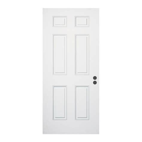 36 X 79 Exterior Door Jeld Wen 36 In X 79 In 6 Panel Primed Fiberglass Front Door Slab 936738 The Home Depot
