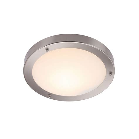Brushed Chrome Ceiling Light Endon Portico Bathroom Flush Ceiling Light In Brushed Chrome Finish 12421 Lighting From