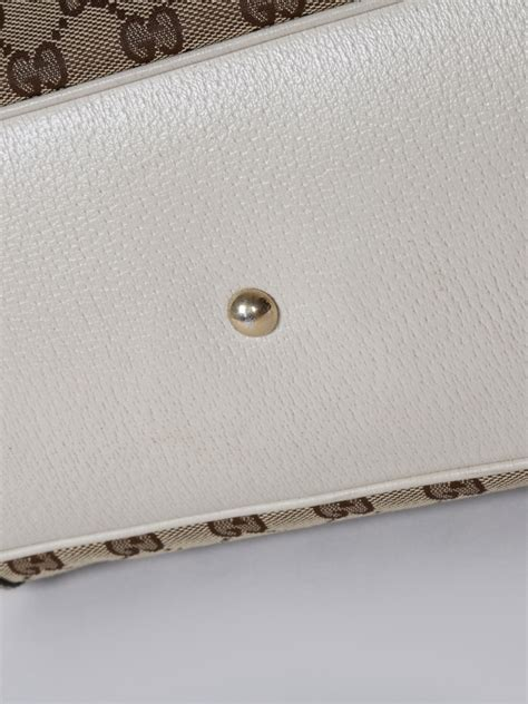 Gucci Canvas White gucci mayfair gg canvas white leather tote luxury bags