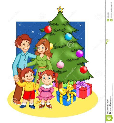 imagenes feliz navidad en familia kerstmis in familie stock illustratie illustratie