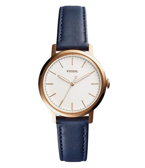 Fossil Neely Navy Leather Es4338 fossil neely analog leather dillards