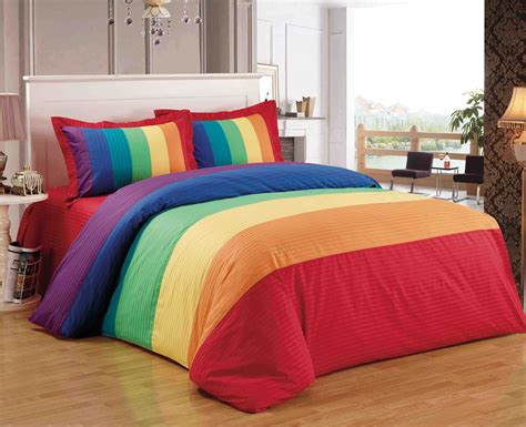 energetic queen size bedroom sets chocoaddicts com rainbow energetic bedding polyester cotton duvet cover