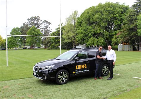 Subaru Deal by Winger Subaru Kicks A Deal To Supply The Chiefs Rugby