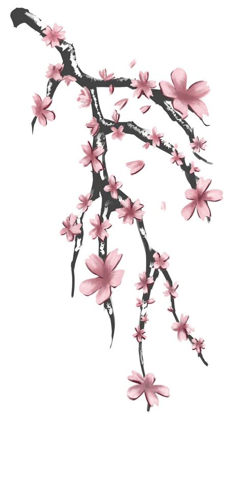 cherry blossom branch tattoo designs design for aokaji by memeshii horizon