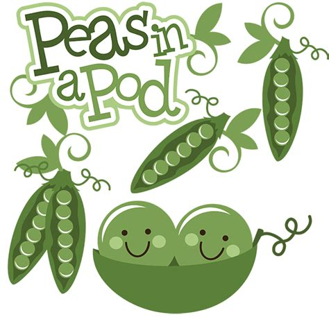 peas in a pod svg scrapbook collection peas svg file